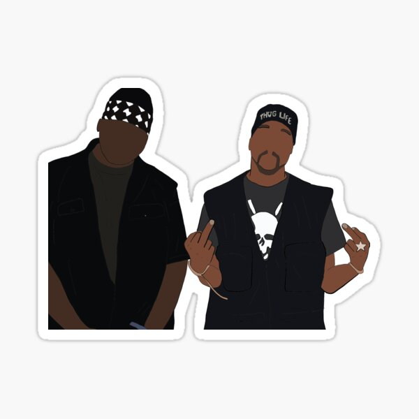 Tupac and Biggie Sticker