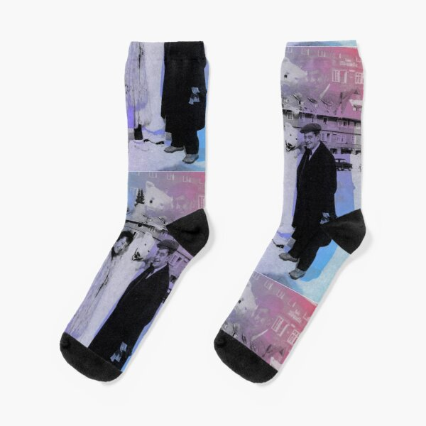 Sylvia Bataille and Jacques Lacan chillin with a polar bear  Socks