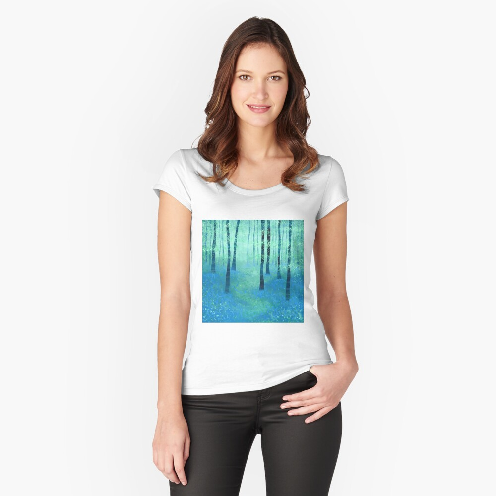 Bluebells, Challock Women's Fitted Scoop T-Shirt Front