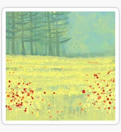 Meadow near Périgueux Sticker