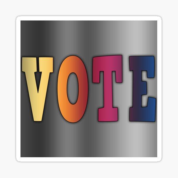Linear Gradient VOTE Sticker
