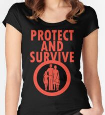 Protect And Survive Boy Women's Fitted Scoop T-Shirt