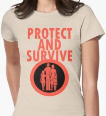 Protect And Survive Boy Womens Fitted T-Shirt