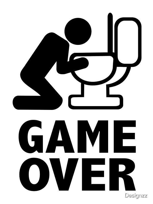 """""""Game over puke toilet"""" Photographic Prints by Designzz ..."""