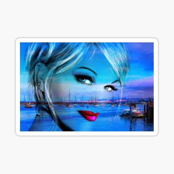 Blue Eyes Blue Sticker