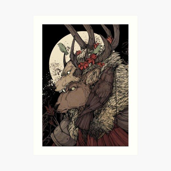 The Elk King Art Print