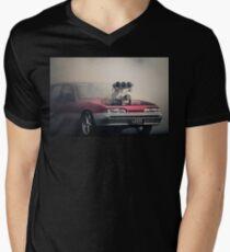 LOOSE Burnout Mens V-Neck T-Shirt