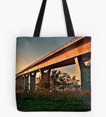 Jamestown Bridge at Sunset, Jamestown Rhode Island Tote Bag