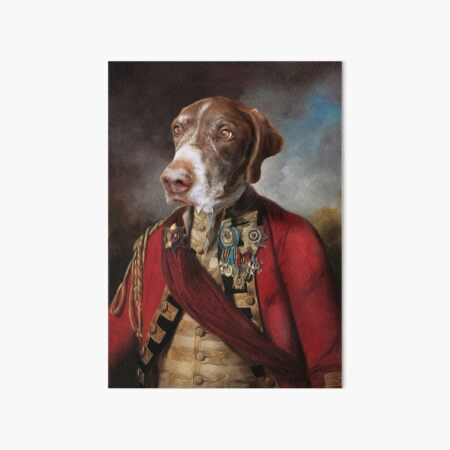 German Shorthaired Pointer Dog Portrait - Buster Art Board Print