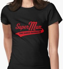 Super Mum – The Family Manager (Red) T-Shirt