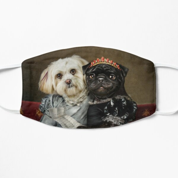 Dog Portrait - Peggy and Lucy Flat Mask