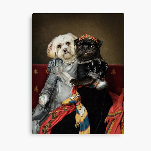 Dog Portrait - Peggy and Lucy Canvas Print