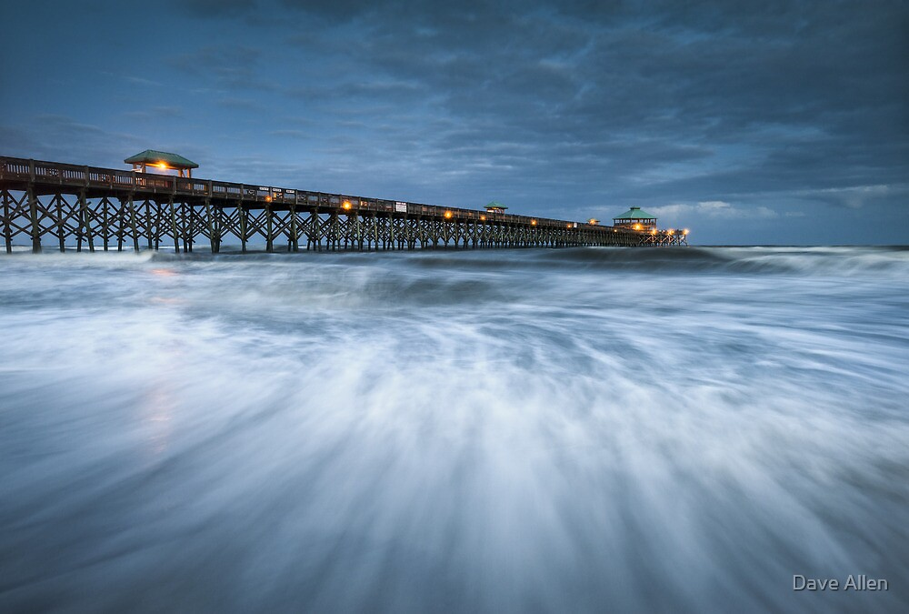 Folly Beach Blues - Folly Beach Pier Charleston SC by Dave Allen