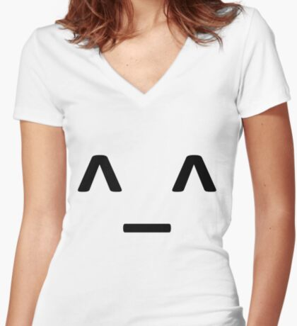 happy emotion T-shirt Women's Fitted V-Neck T-Shirt