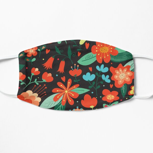 Flowers and hearts Mask