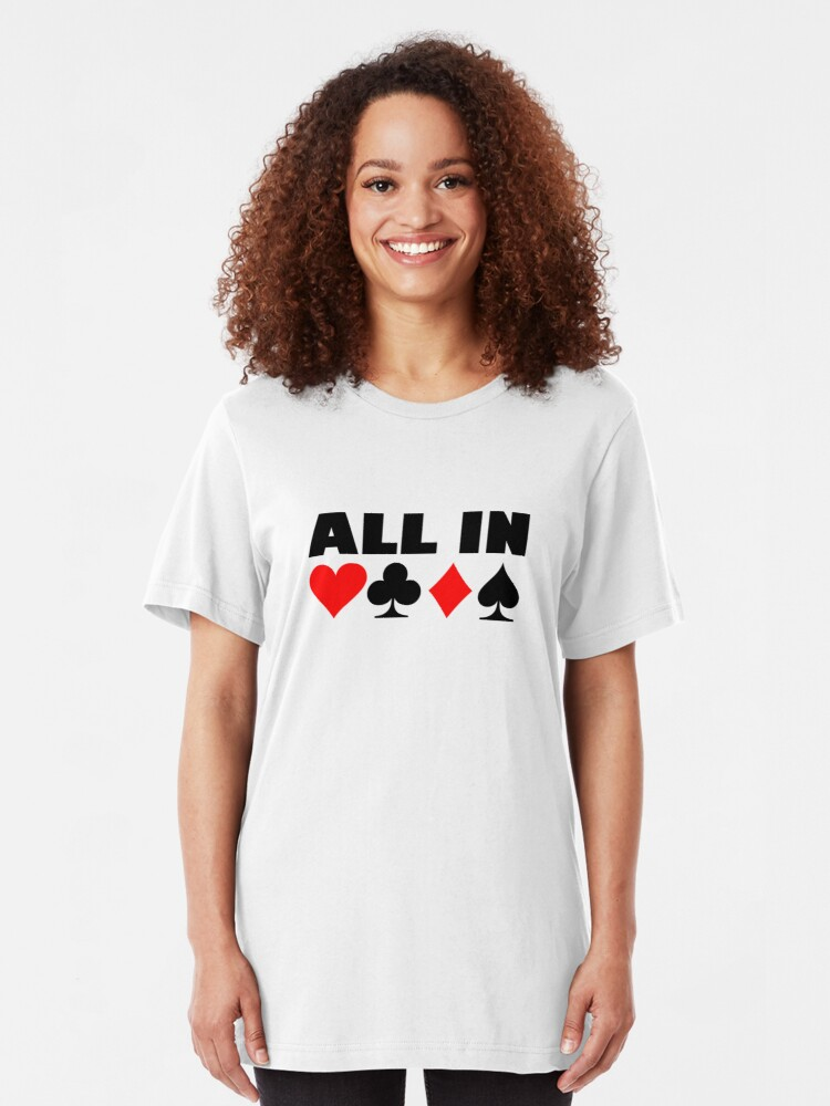 Alternate view of All in poker Slim Fit T-Shirt