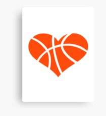 Basketball heart Canvas Print