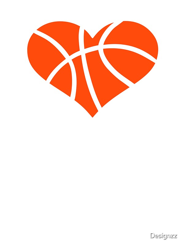 Quot Basketball Heart Quot Stickers By Designzz Redbubble