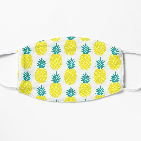 Pineapple Print | Fruit Pattern | Yellow Design | Food Graphic | Pineapple Gift | Sweet Present Flat Mask