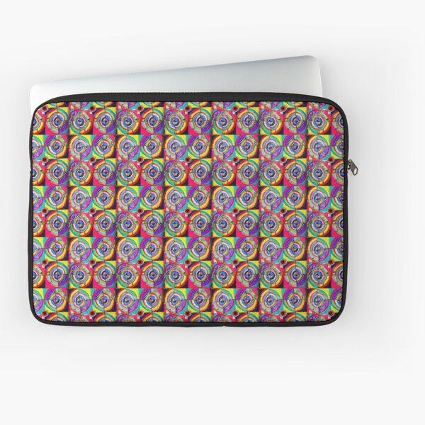 Crazy Quilt Round and Around Laptop Sleeve