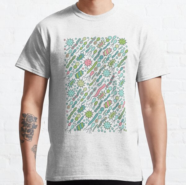 Microbes pattern. Bacteria design for biology lovers. Classic T-Shirt