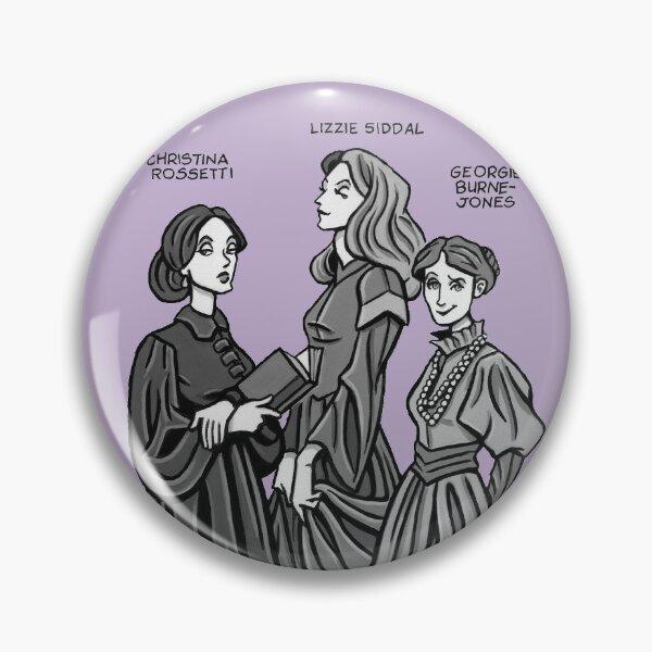 Pre-Raphaelite Sisters Pin