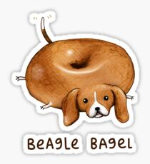 Beagle Bagel Sticker