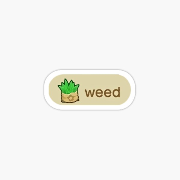 animal crossing weed Sticker