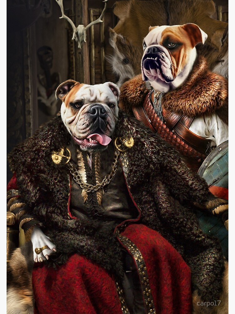 Bulldog Portrait - Nas and Lennon by carpo17