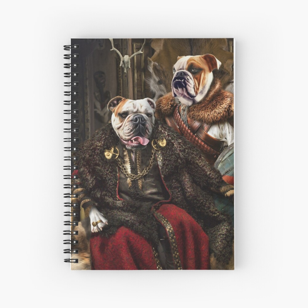 Bulldog Portrait - Nas and Lennon Spiral Notebook