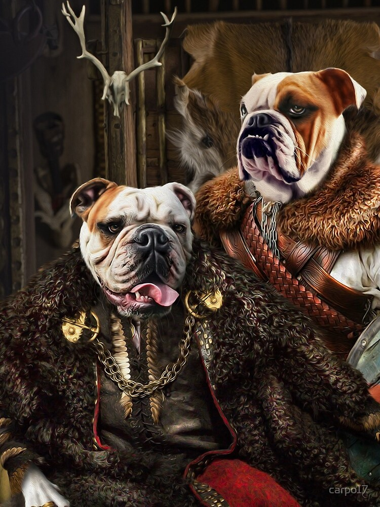 Bulldog Portrait - Nas and Lennon by carpo17