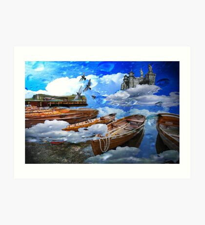 boats in the clouds Art Print