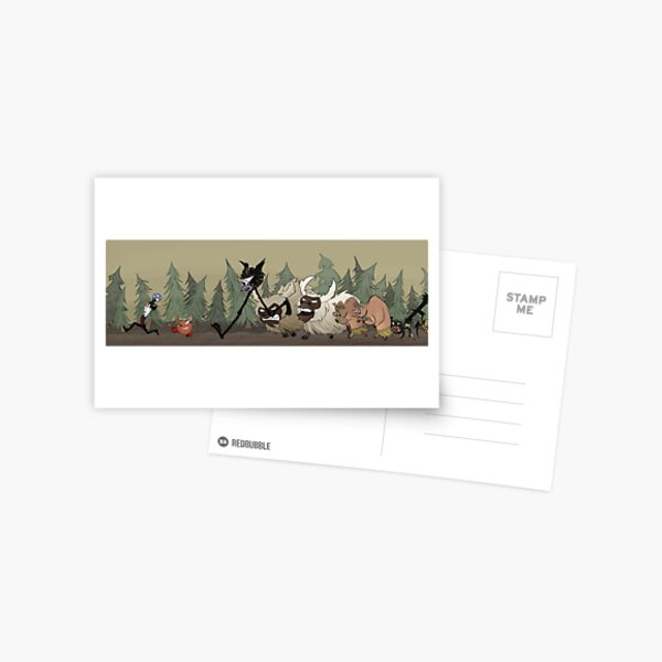 Don't Starve and Don't Die Postcard