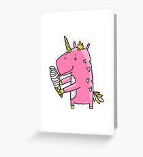 Unicorn and ice cream Greeting Card