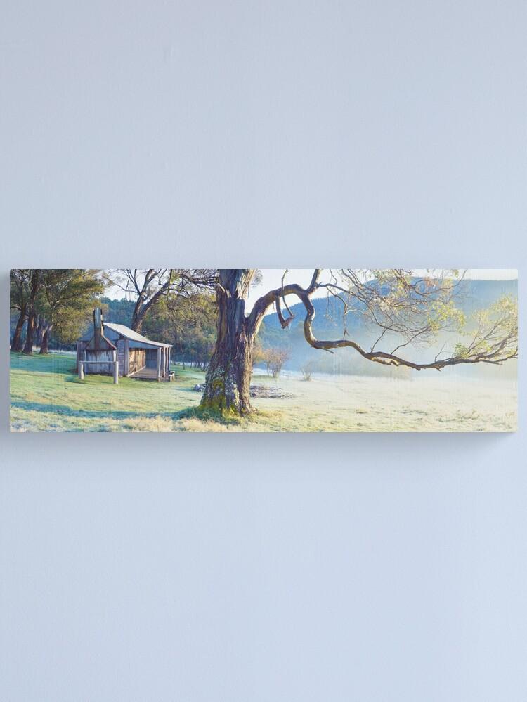 Alternate view of Oldfields Hut, Kosciuszko National Park, Australia Canvas Print