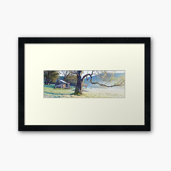 Oldfields Hut, Kosciuszko National Park, Australia Framed Art Print