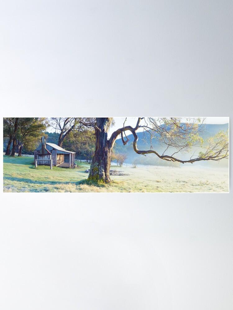 Alternate view of Oldfields Hut, Kosciuszko National Park, Australia Poster