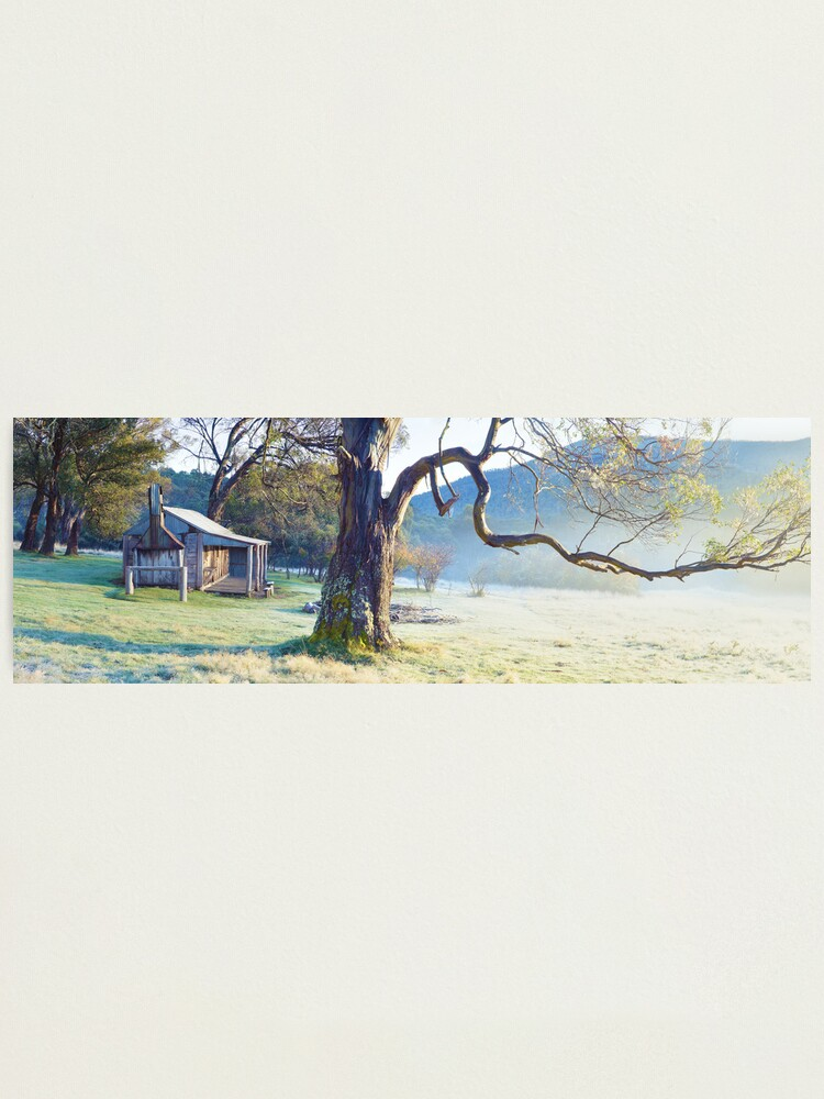 Alternate view of Oldfields Hut, Kosciuszko National Park, Australia Photographic Print