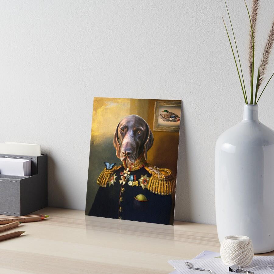 German Short Haired Pointer Dog Portrait - Chip Art Board Print