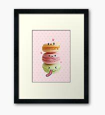 Funny Macarons Framed Print