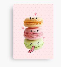 Funny Macarons Canvas Print