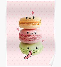 Funny Macarons Poster