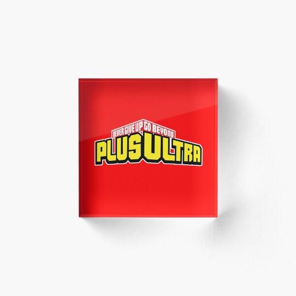 My Hero Academia PLUS ULTRA! Never Give Up (Boku No Hero Academia) Acrylic Block