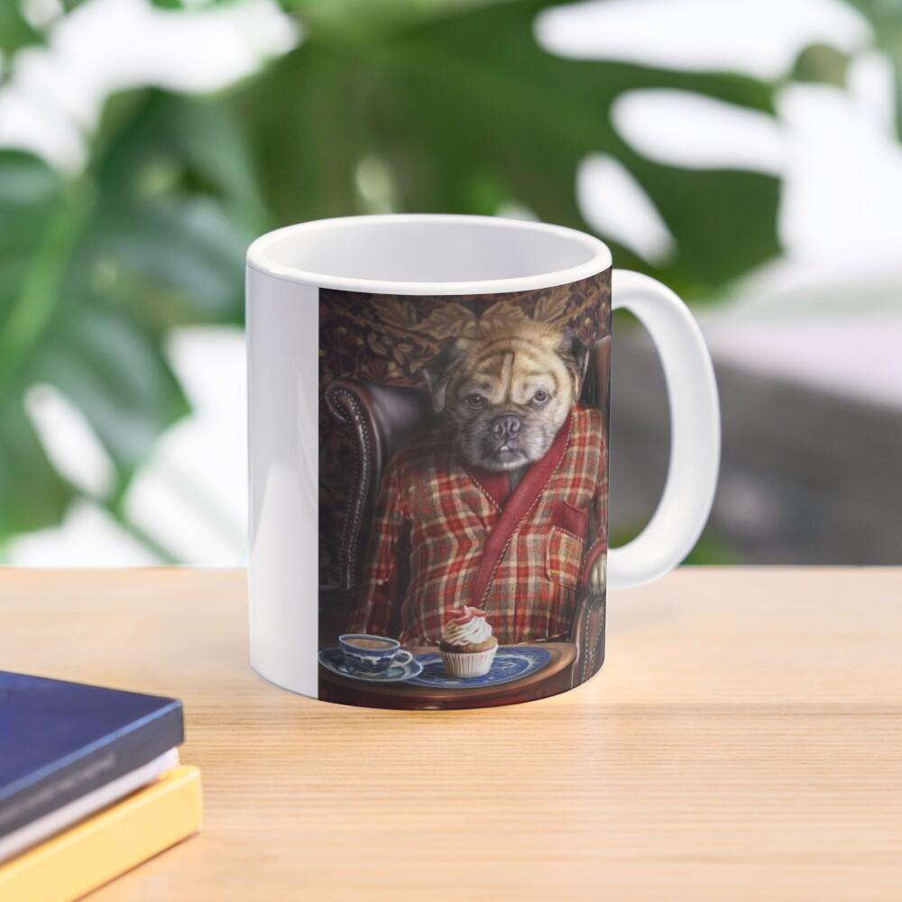 Pug Dog Portrait - Pudgy  Mug