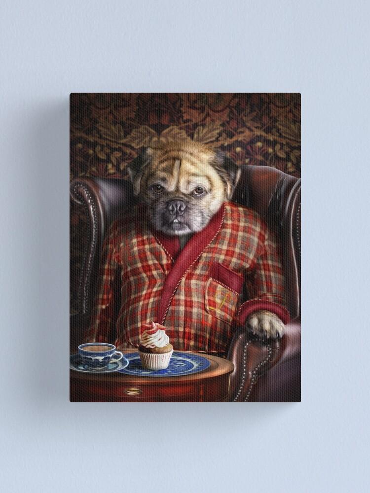 Alternate view of Pug Dog Portrait - Pudgy  Canvas Print