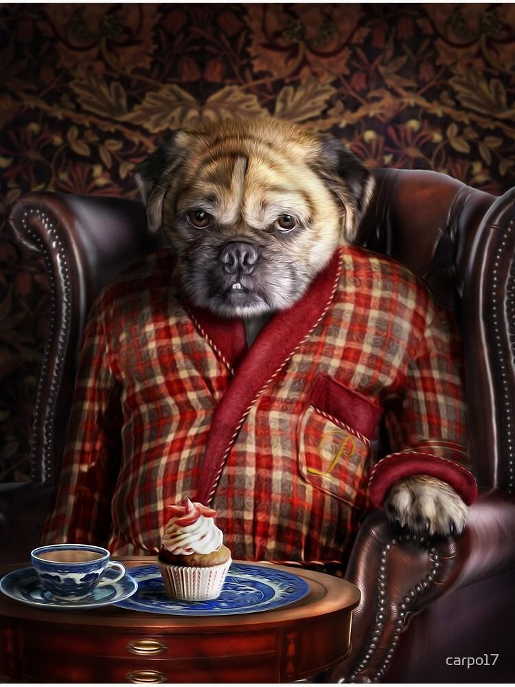 Pug Dog Portrait - Pudgy  by carpo17