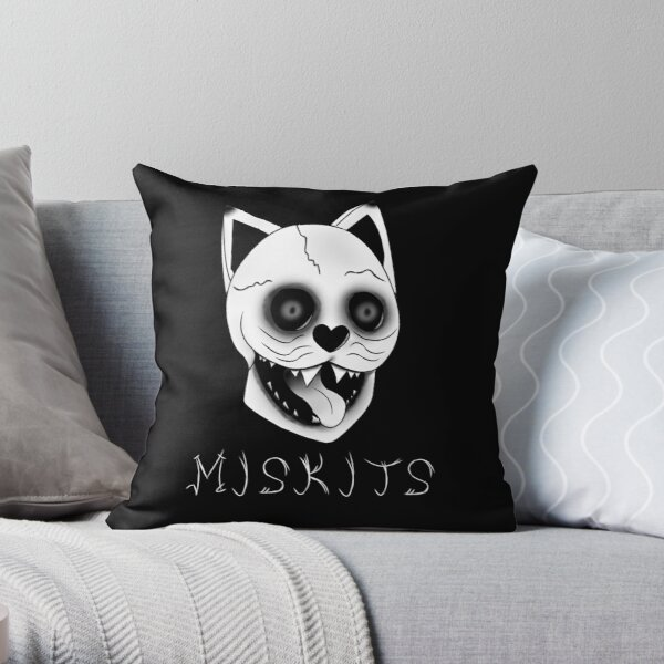 Miskits Throw Pillow