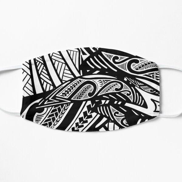 Impression poly noir et blanc Masque sans plis