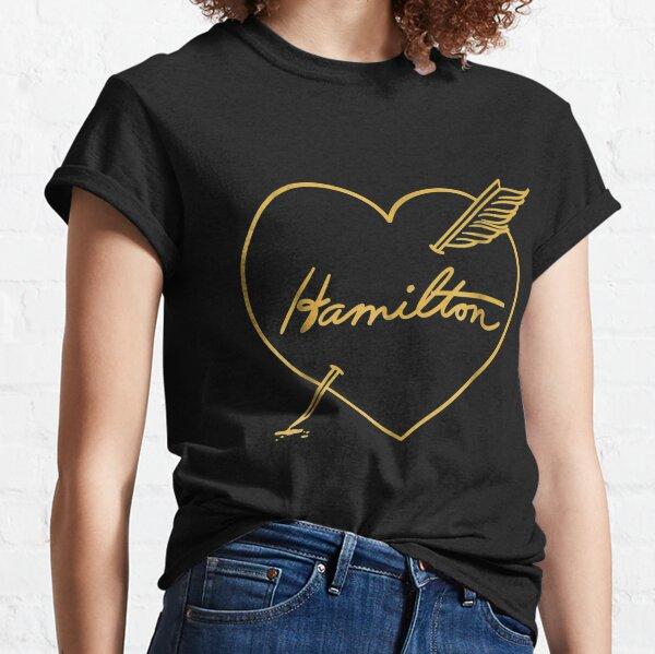Hamilton Love | Quill Pen Through Heart Classic T-Shirt