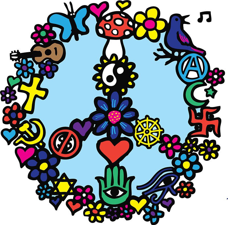 """Dukepope: """"Peace Sign"""" Stickers By Dukepope"""